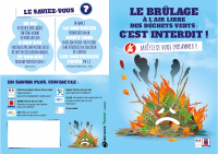 Plaquette 'Brûlage à l'air interdit' édité par l'Ademe et la préfecture du Centre-Val de Loire